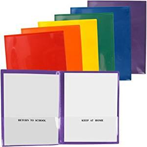 StoreSMART School / Home Folders - 30-Pack - 6 Colors! - Letter-Size Twin Pocket - Durable, Archival Plastic - SH900PCP30ENG