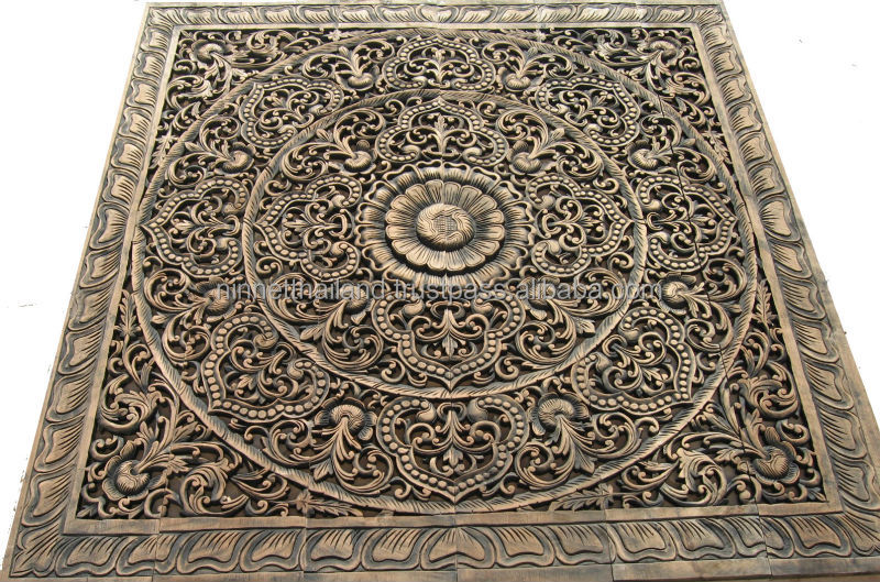 Carved Wooden Wall Art carved wood panel thailand, carved wood panel thailand suppliers