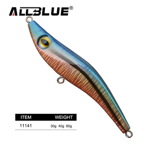 ALLBLUE 30g 40g 60g Luminous Squid Jig Shrimp Lure Squid Light Jigs Lures Artificial Fishing Tackle
