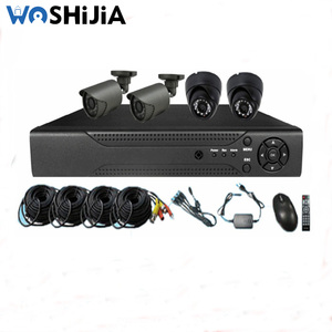 24pcs leds IR Dome and 2ps Bullet CCTV Camera and 720P AHD DVR with cables power support Kits