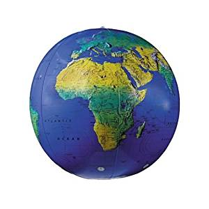 Replogle Inflatable Topographical Globe