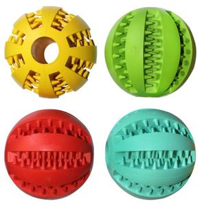 Durable Rubber Ball Chew Pet Dog Puppy Teething Dental Healthy Treat Clean Toy AD632