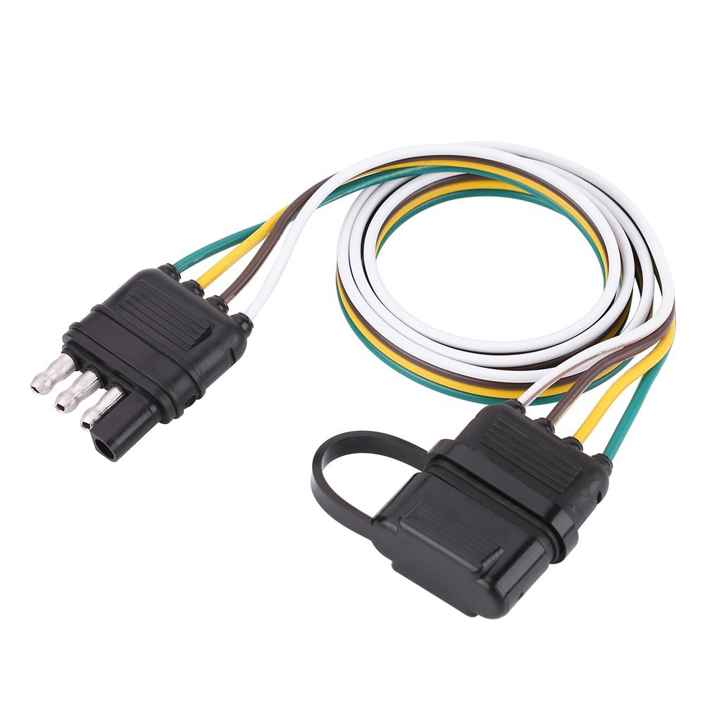 Cheap 7 Pin Flat Wiring Diagram Find Plug Socket Get Quotations Qiilu 6 24v 4 Trailer Connector Adapter For Caravan Towbar
