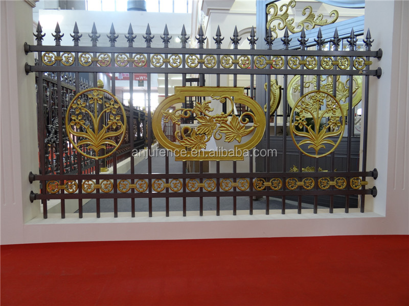 AJLY 001 Decorative aluminum alloy fence panels used for house/garden/villa