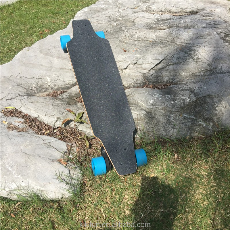 Much lighter much thinner but ultra-long 24V battery life off road electric skateboard wheels 1200W dual hub motor