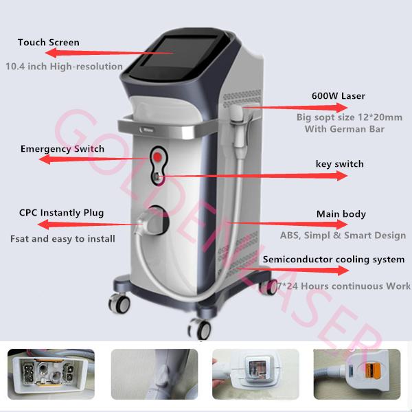 Beijing Goldenlaser!  Discounting 400 watts / 600 watts diode laser hair removal machine