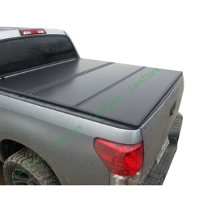 Lantsun 07-14 CHEVROLET SILVERADO 6.5FT-BED cover Black Trifold Truck Tonneau Cover