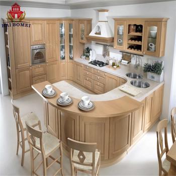 Wood Modular Kitchen Pantry Cabinet