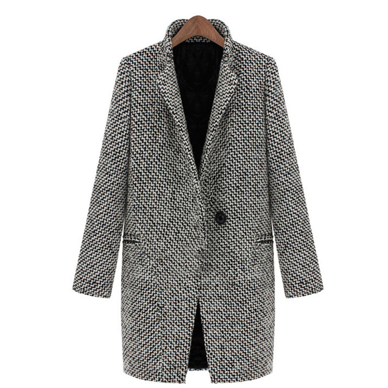 4d7c90e3e71c Buy Thick Warm Long Wool Coat Women Wide-Waisted Single Button Vintage  Houndstooth Coat Designer Brand Winter Women Warm Coats in Cheap Price on  m.alibaba. ...