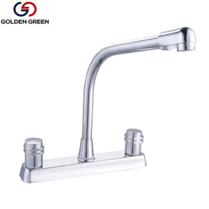 Brass double handles good quality kitchen 8 inch sink faucet Made in China