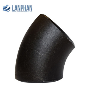 china supplier ansi din standard pipe gi elbow 45 degree pipe bend