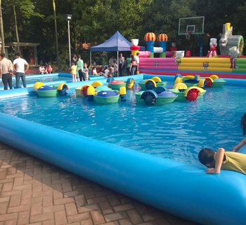 Blue inflatable pool/inflatables swimming pool for sale