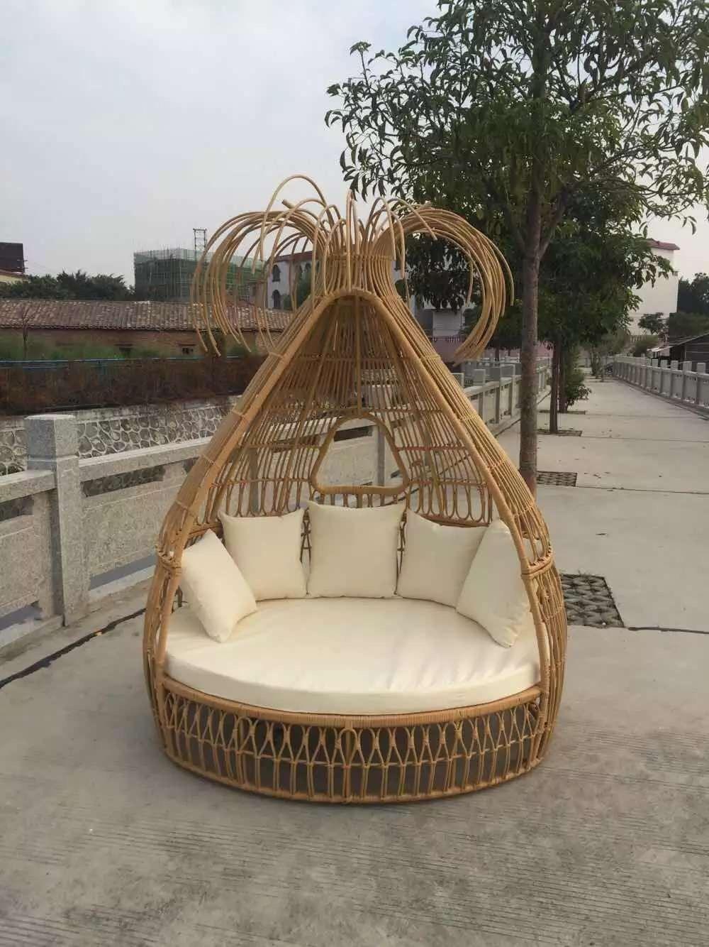 11 Outdoor Garden Furniture New Design Poolside Sunbed Big Round Rattan  Sofa Bed - Buy New Model Sofa Bed,Poolside Sunbed,Garden Sunbed Product on