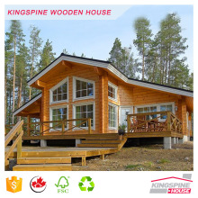 luxury wood villa beautiful prefabricated log house with wild windows