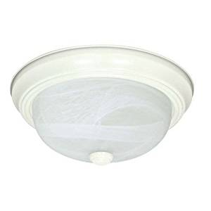 (USA Warehouse) Nuvo Lighting 60/2631 Textured White 3 Light Flush Mount Energy Star Rated -/PT# HF983-1754425315