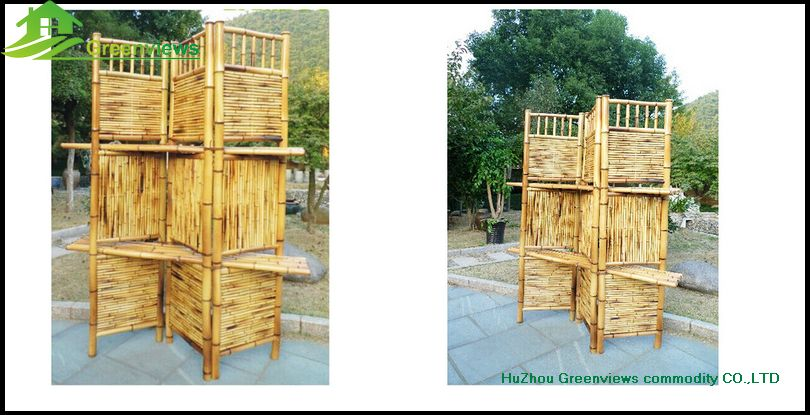 Outdoor Folding Screen Cheap Movable Foldable Living Bamboo Portable Garden  Screens Room Dividers Decorative Bamboo ScreenGVHH10