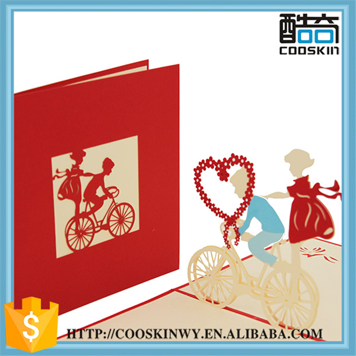 Luxury Chinese handmade decoration greeting card,laser cut invitation card