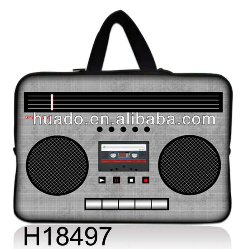 Radio designs Soft Neoprene Laptop Sleeves Cases Netbook Bag Pouch Cover