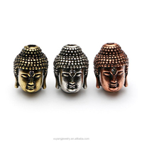 High quality cz micro pave buddha head brass beads for DIY jewelry making (MPB049)