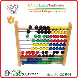 2017 top new educational wooden abacus, kids math learning toy, abacus games