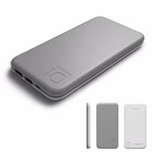 Puridea S2 Gray 10000mAh 3A Output Portable Battery Power Bank,Backup Phone Charger (2.4A Input Li-polymer Battery Banks)