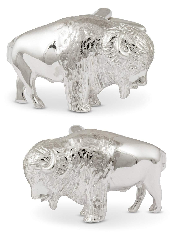 ZAUNICK Bison Cufflinks Sterling Silver