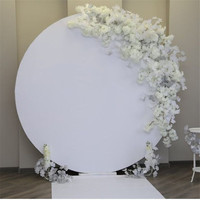 white round acrylic wedding backdrop party backdrop wall