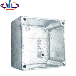 3x3 Casting Galvanized Malleable Iron IP30 Electric Switch Box