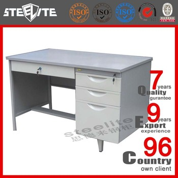 Ceo Office Desk With Wheels And Locking Drawers