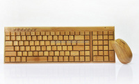 Wireless bamboo keyboard and mouse Special
