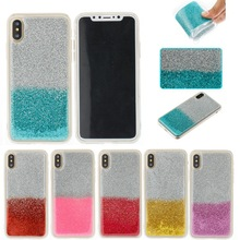 Most popular items shiny glitter mixed color tpu mobile phone case for iphone x ultra thin back cover case