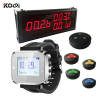 Guest Calling Button System K-336 Big Display Waiter Watches With Table Ordering Buzzer Restaurant Pager K-336+K-300plus+K-H3-B