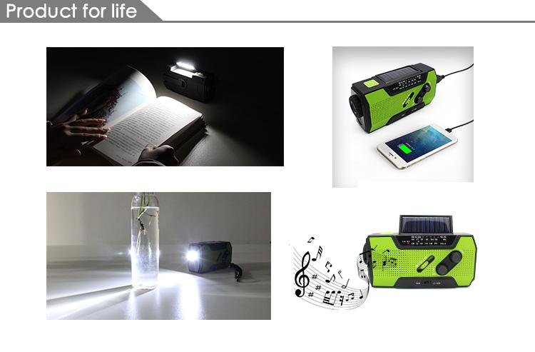 mini manivela portátil da emergência am fm sw rádio solar com lanterna led