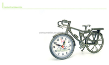 fashion styple bicycle shape desk clock bicycle alarm time clock retro table clock