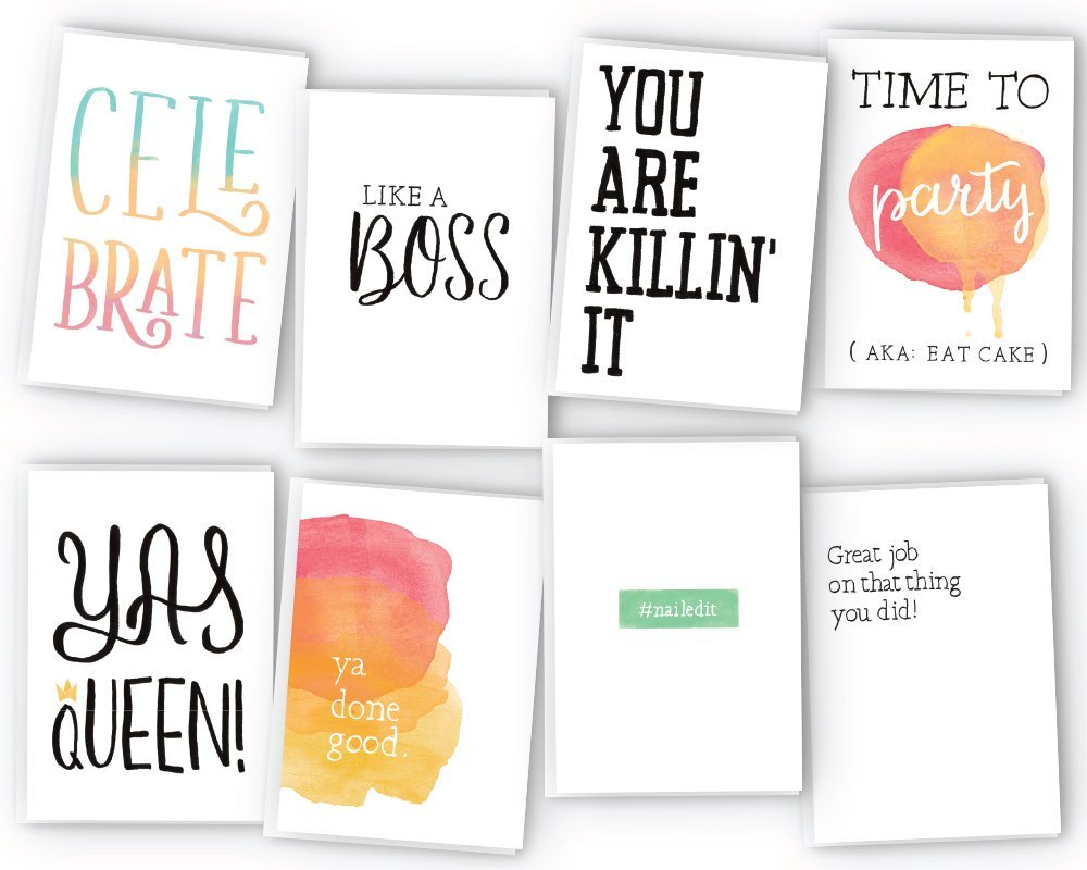 All Occasion Sassy Greeting Cards Assortment - 48 Cards & Envelopes - Birthday Cards, Graduation Cards, Encouragement Cards,