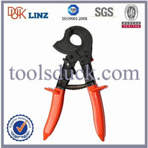 Max cutting dia 30mm portable hand operated ratcheting cable cutter/lineman tools/ratchet cutters hand tools