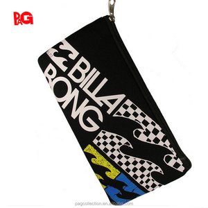 factory custom sublimation printing neoprene zipper pencil case
