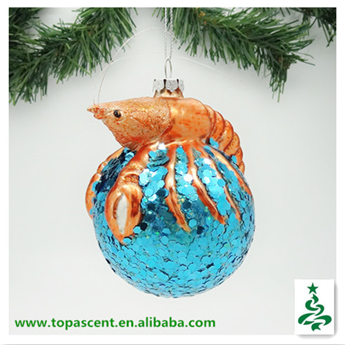 2014 Swinging Christmas Blown Glass Fish Ornament - Lobster ...