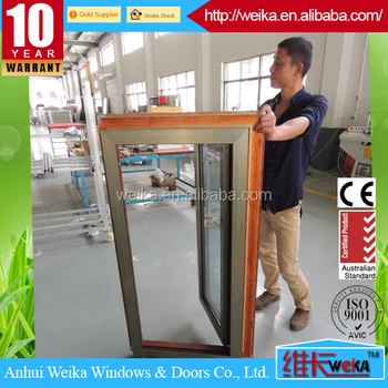 Double glazed aluminum tilt and turn window with big fixed panel