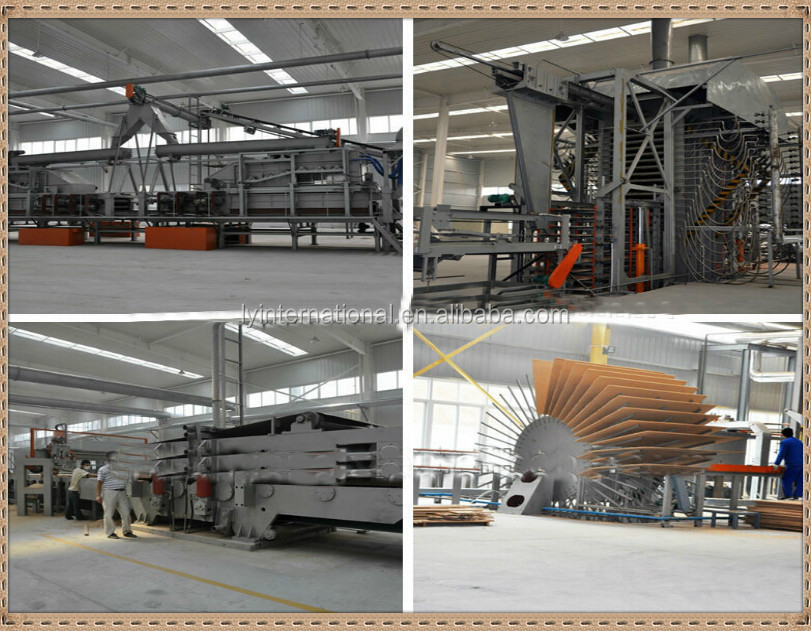 full automatic particle board production line for russian countries/particle board making equipments /woodworking machine