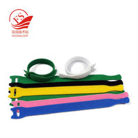 Chinese direct manufacture wholesale double side hook to loop magic cable tie/cable tie clip