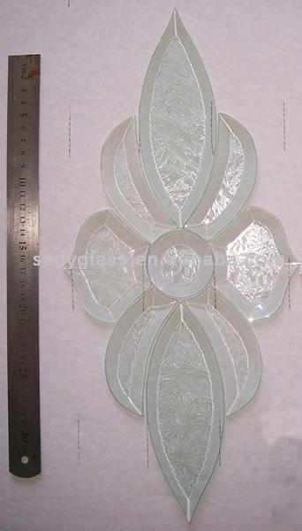gllue chip bevel cluster glass for decoration in windows and doors lites