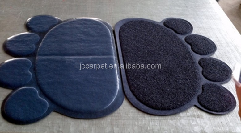 customized logo absorbent PVC coil pet food mat,cat pads