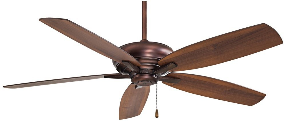 "Minka Aire F688-DBB Kola - 52"" Ceiling Fan, Dark Brushed Bronze Finish with Dark Maple/Dark Walnut Blade Finish"