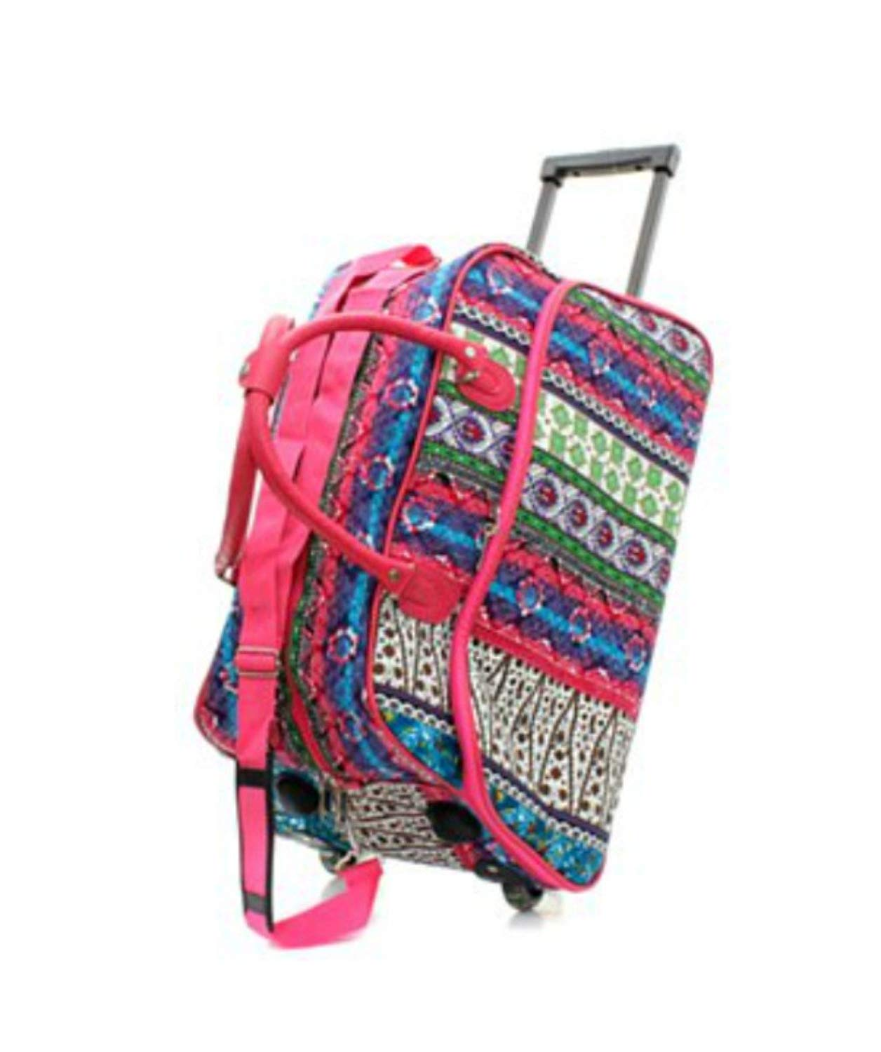 Get Quotations · Carry On Rolling Duffel for Women Travel Bag 21