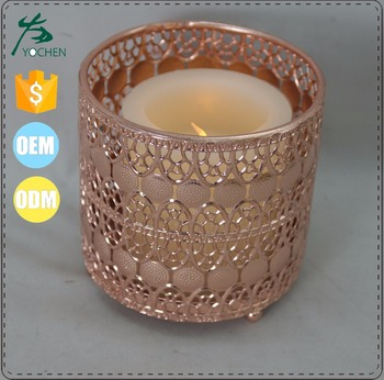 Rose Gold Metal Votive Candle Holder Product On Alibaba
