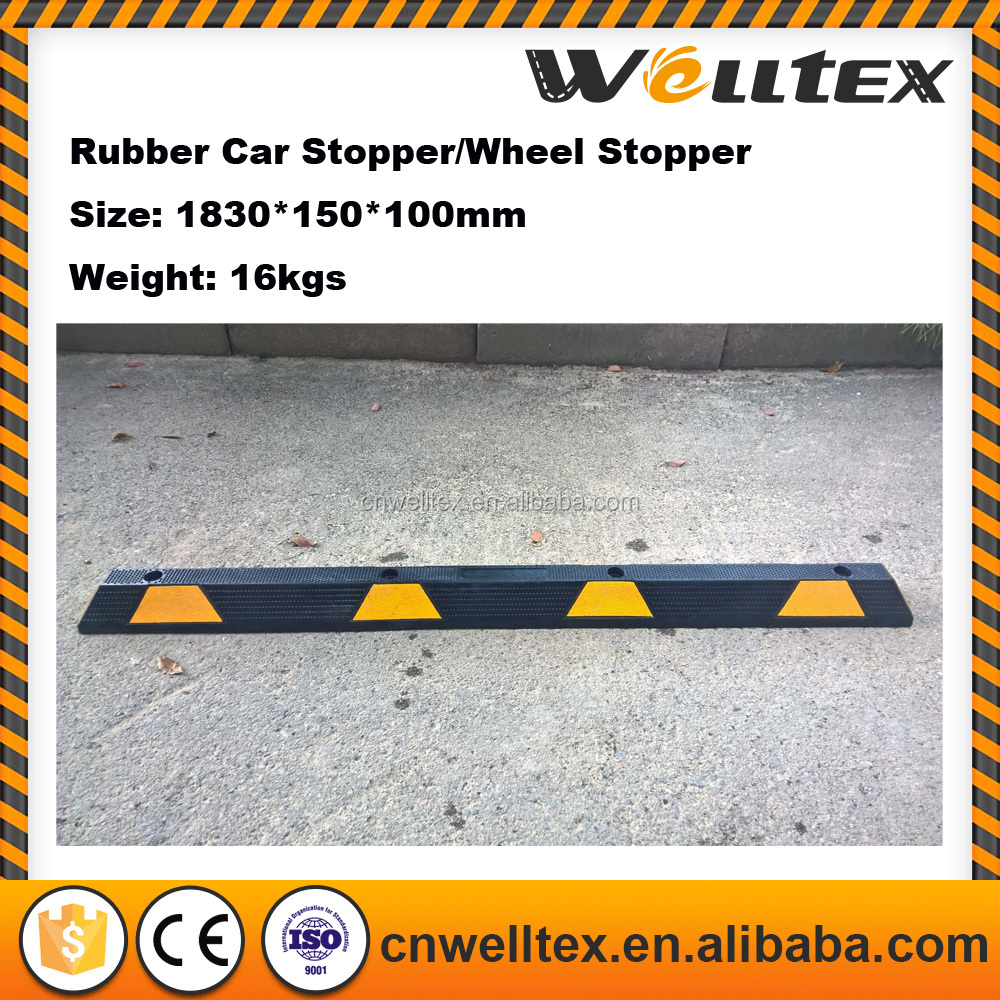 80 36 Rubber Curb Block Wheel Stop For Garage Driveway Or