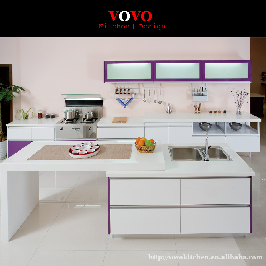 Hollywood Automatic Modern Stylish Stoving Varnish Lacquer Kitchen Cabinet