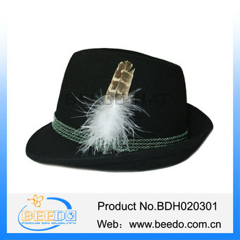 Fashion 100% Wool Felt German Swiss Italian Alpine Hats - Buy ... c49eaa3cb01