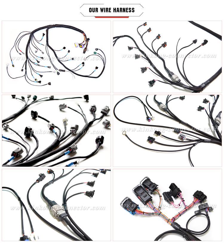 Automotive wire harness with injector connector